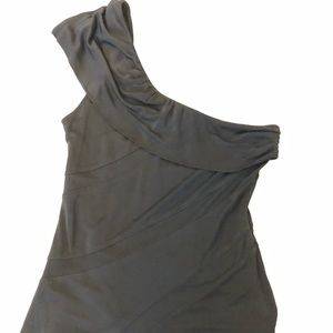 Rock and republic one shoulder tank top